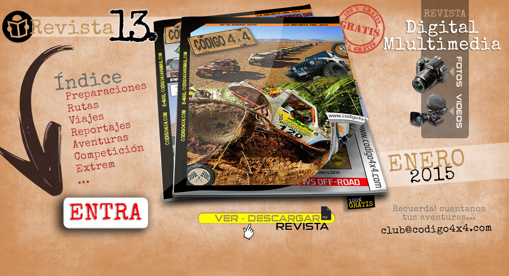 Marketing Off-Road en contraportada de revista codigo4x4.com
